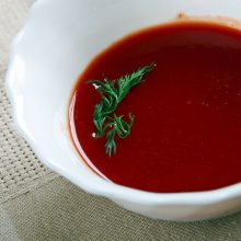 A bowl of the mother sauce known as Espagnole Sauce