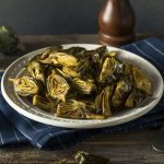 A healthy bowl of artichokes for the Grilled Artichoke Salad