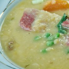 A hearty bowl of Ham and Split Pea Soup