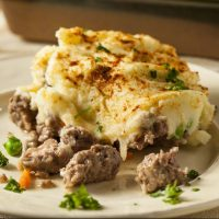 Homemade Irish shepherds pie