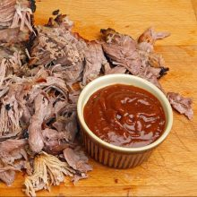 Delicious pulled pork with homemade Pig Sauce