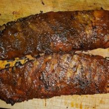 Homemade Smoked Ribs looking delicious.