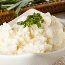 Yukon Gold Mashed Potatoes ready to be served