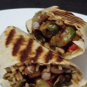 vegan brussel sprout burrito