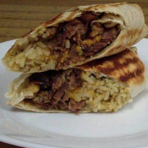 Brisket BBQ Burrito