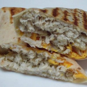 Tater Tots Breakfast Burrito with Sausage, Egg and Cheese 1