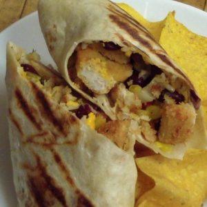 crispy chicken burrito fajita